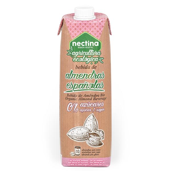 Imagen de leche de almendras ecológica sin azúcar